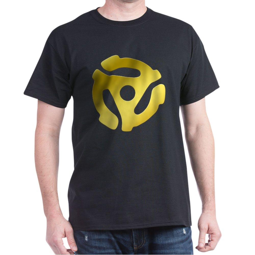 Gold 45 RPM Adapter Dark T-Shirt