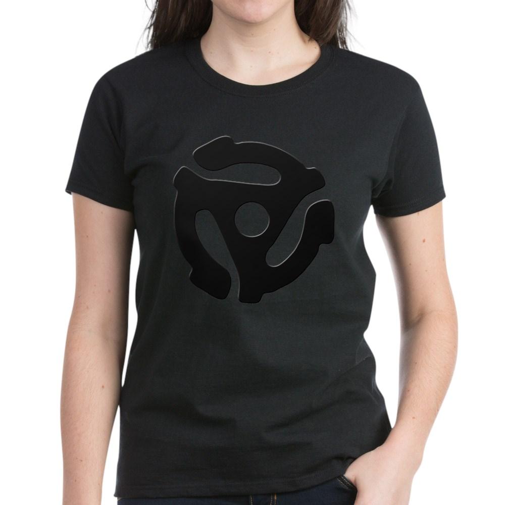 Black 45 RPM Adapter Women's Dark T-Shirt