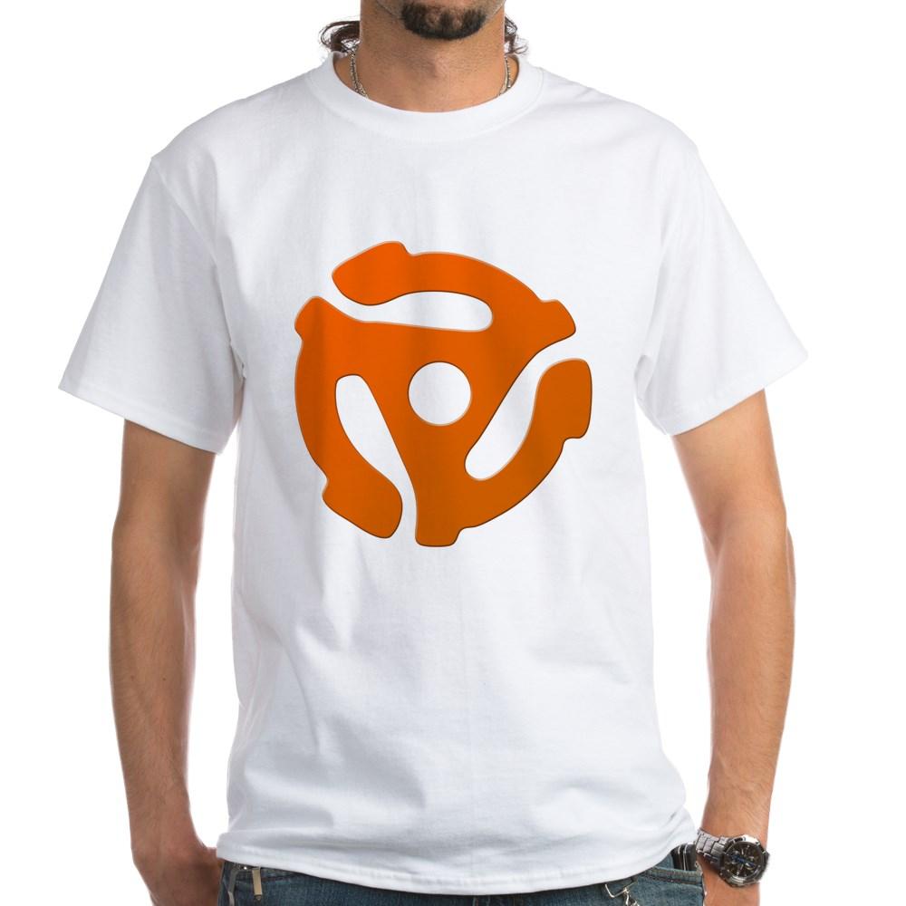 Orange 45 RPM Adapter White T-Shirt