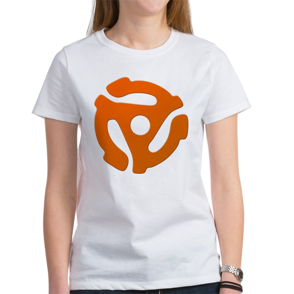 Orange 45 RPM Adapter Women's T-Shirt