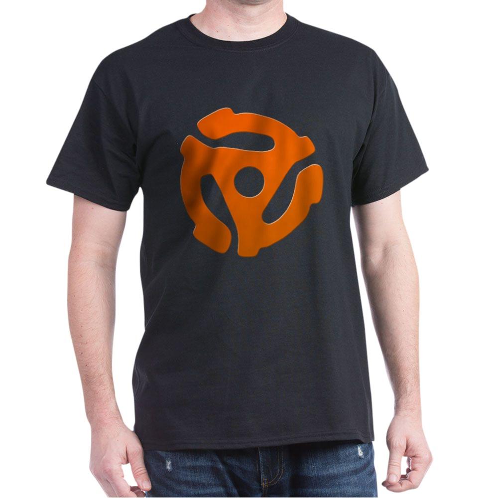 Orange 45 RPM Adapter Dark T-Shirt