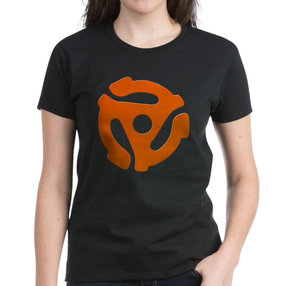 Orange 45 RPM Adapter Women's Dark T-Shirt