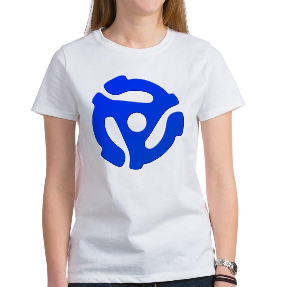 Blue 45 RPM Adapter Women's T-Shirt