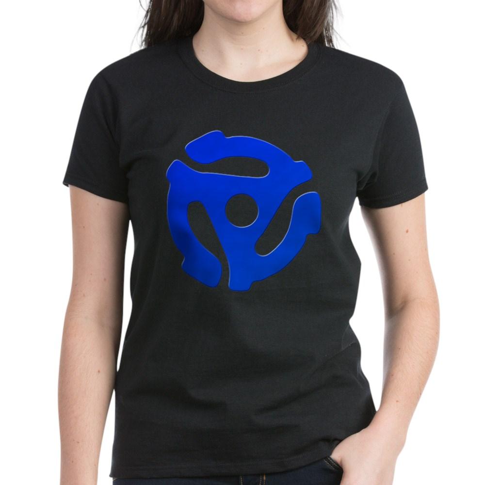 Blue 45 RPM Adapter Women's Dark T-Shirt