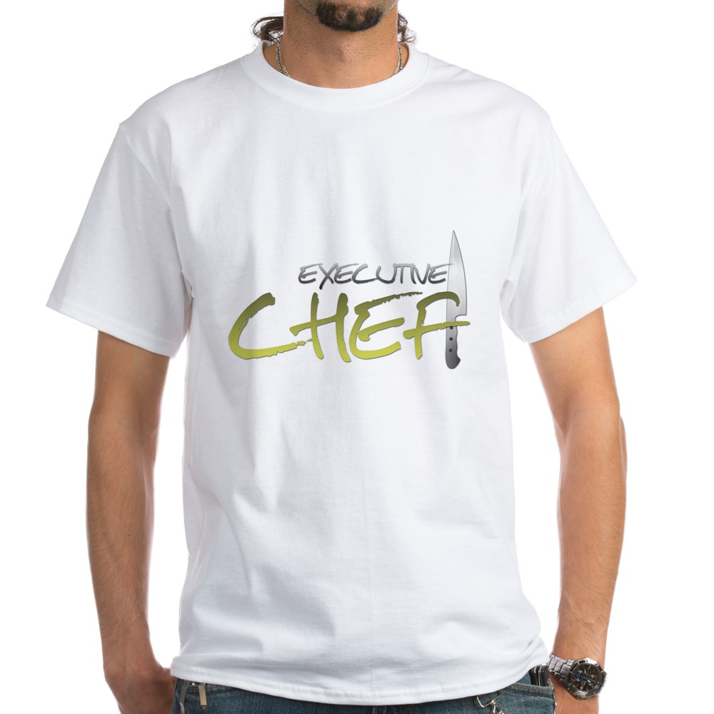 Yellow Executive Chef White T-Shirt