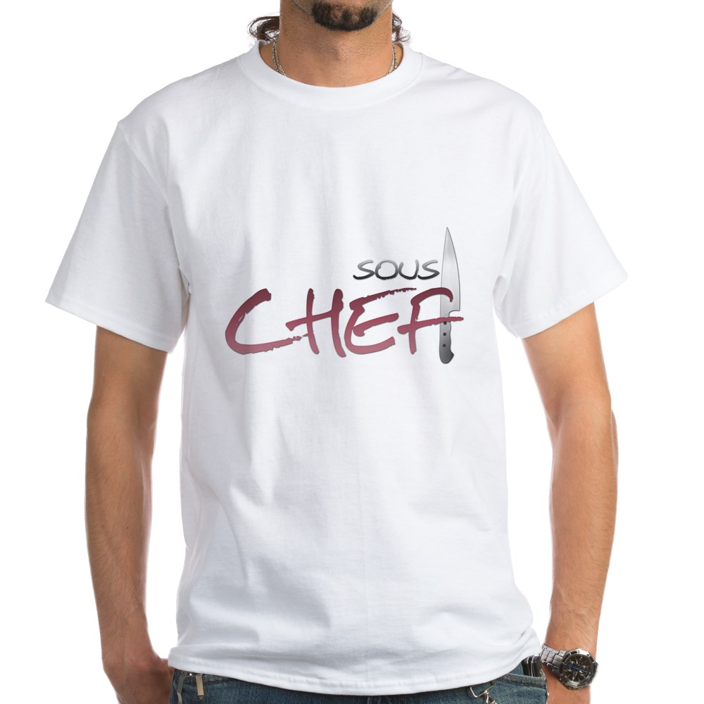 Red Sous Chef White T-Shirt