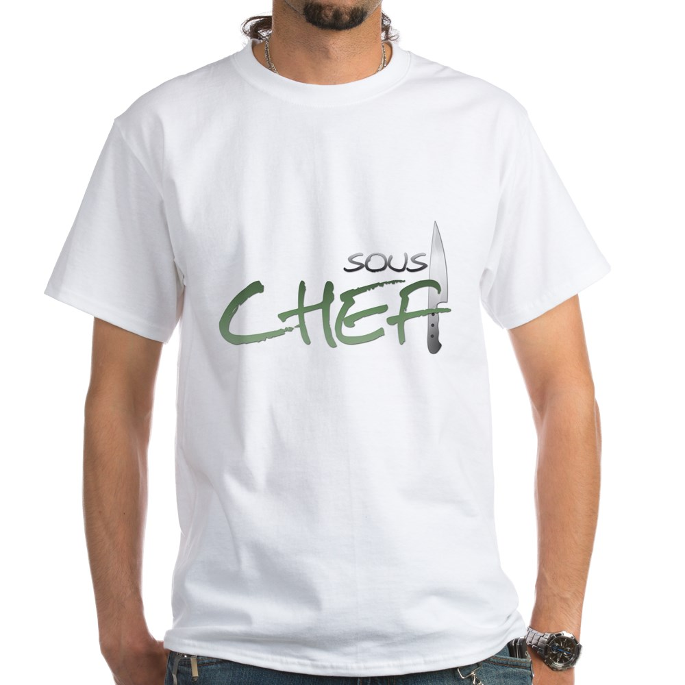 Green Sous Chef White T-Shirt