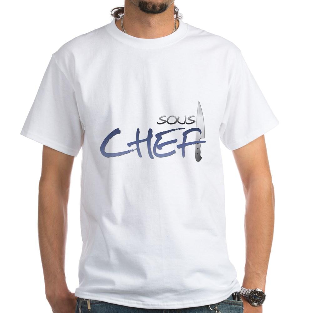 Blue Sous Chef White T-Shirt
