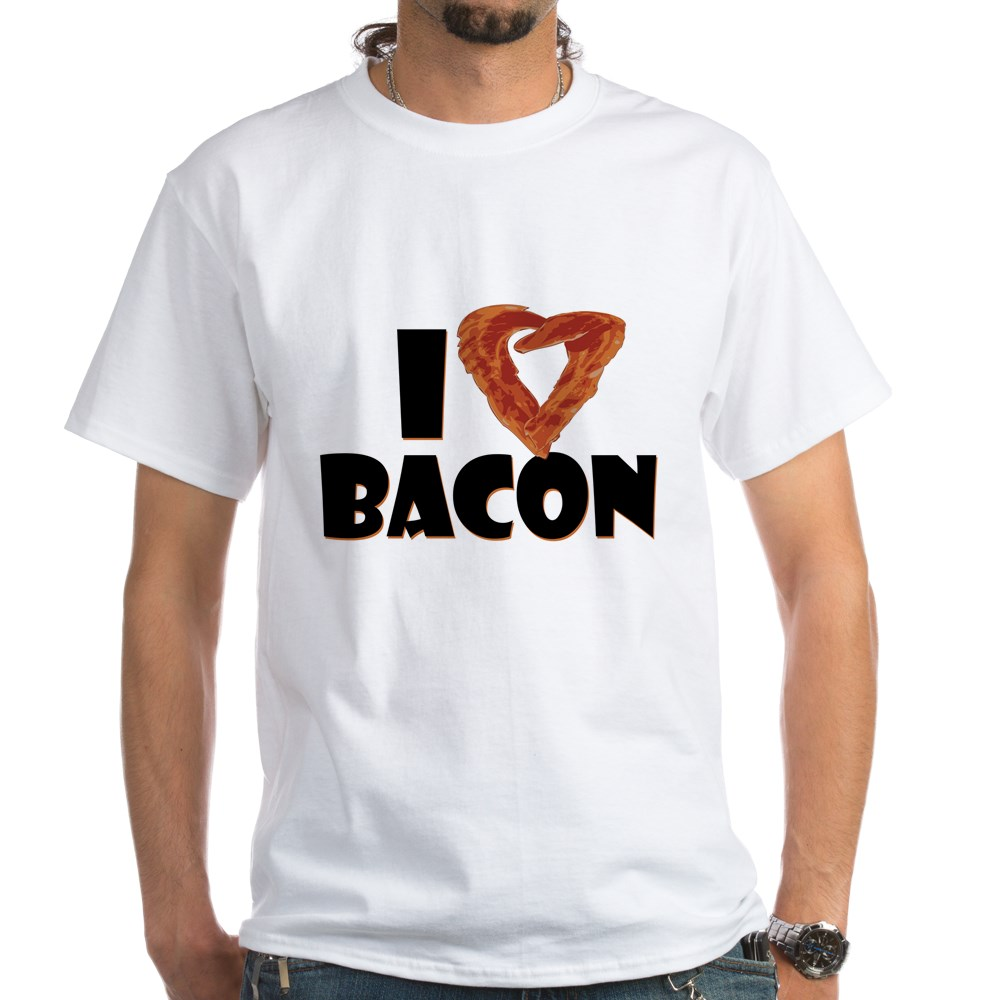 I Heart Bacon White T-Shirt