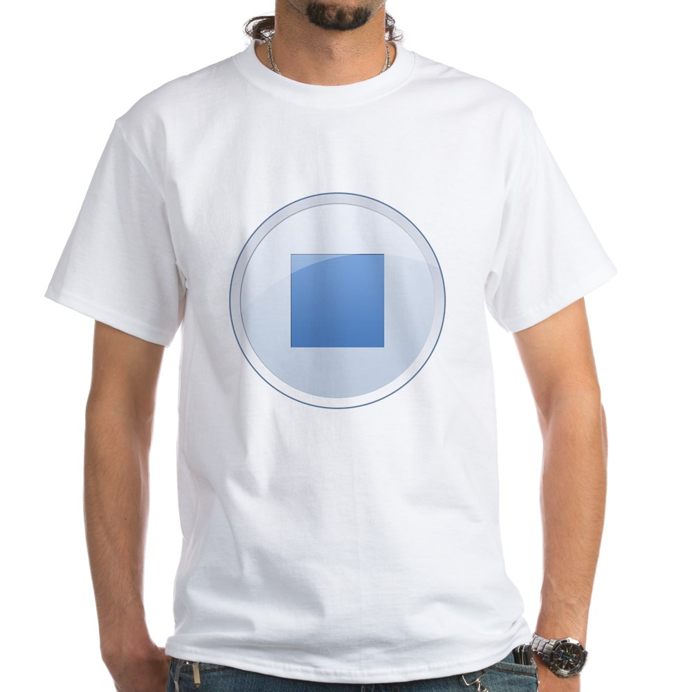 Stop Button White T-Shirt