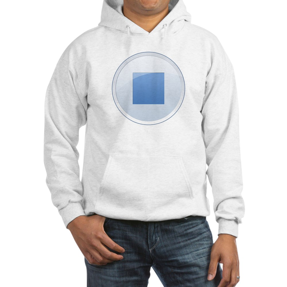 Stop Button Hooded Sweatshirt