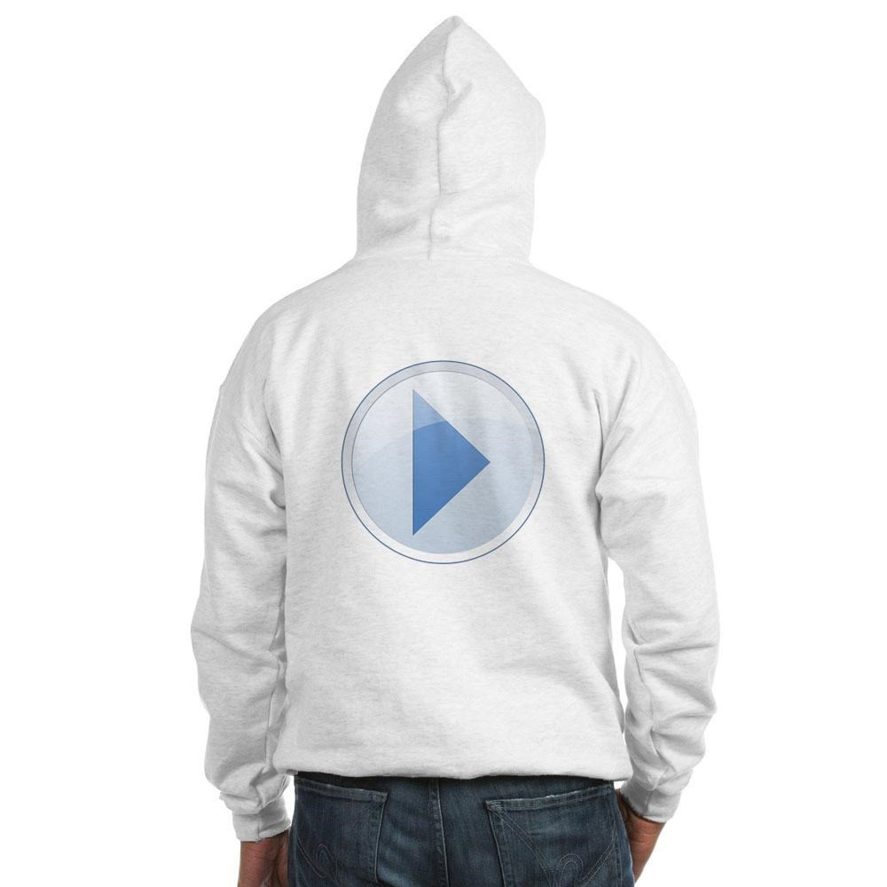 Play Button Hooded Sweatshirt