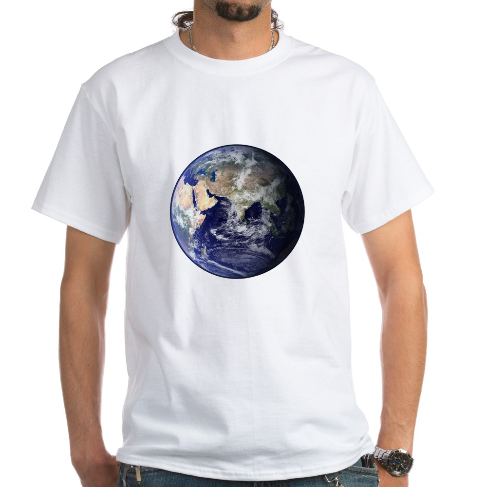 Eastern Earth from Space White T-Shirt