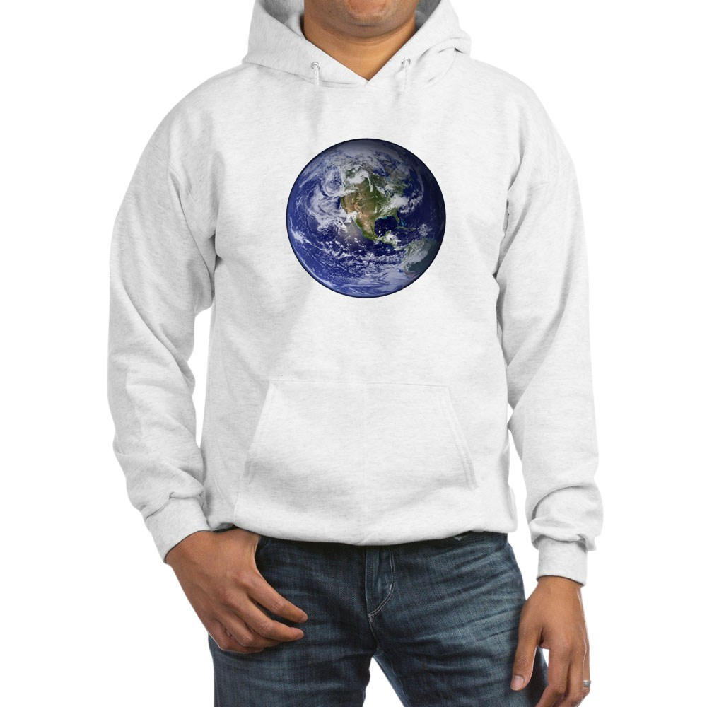 Western Earth from Space Hooded Sweatshirt