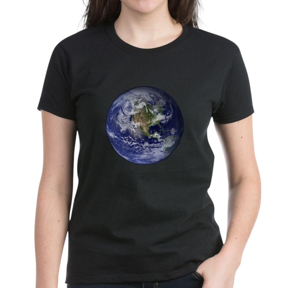 Western Earth from Space Women's Dark T-Shirt