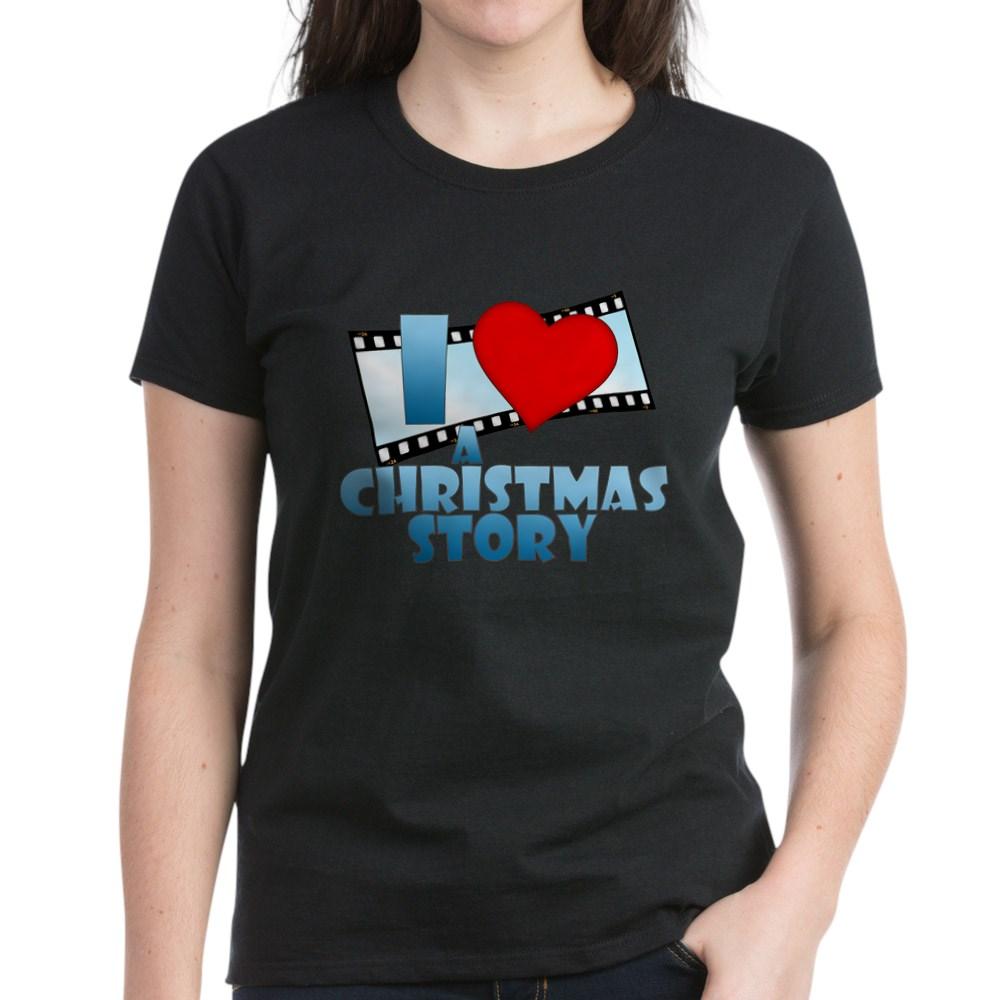 I Heart A Christmas Story Women's Dark T-Shirt