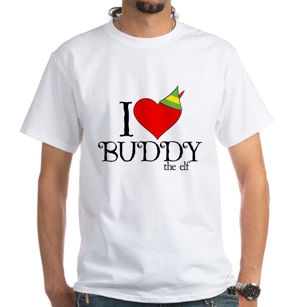 I Heart Buddy the Elf White T-Shirt