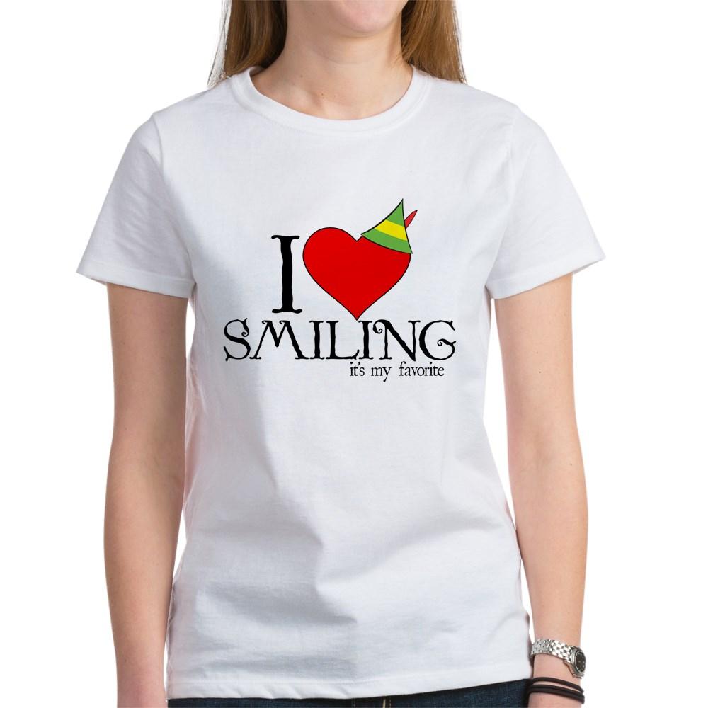 Elf - I Heart Smiling Women's T-Shirt