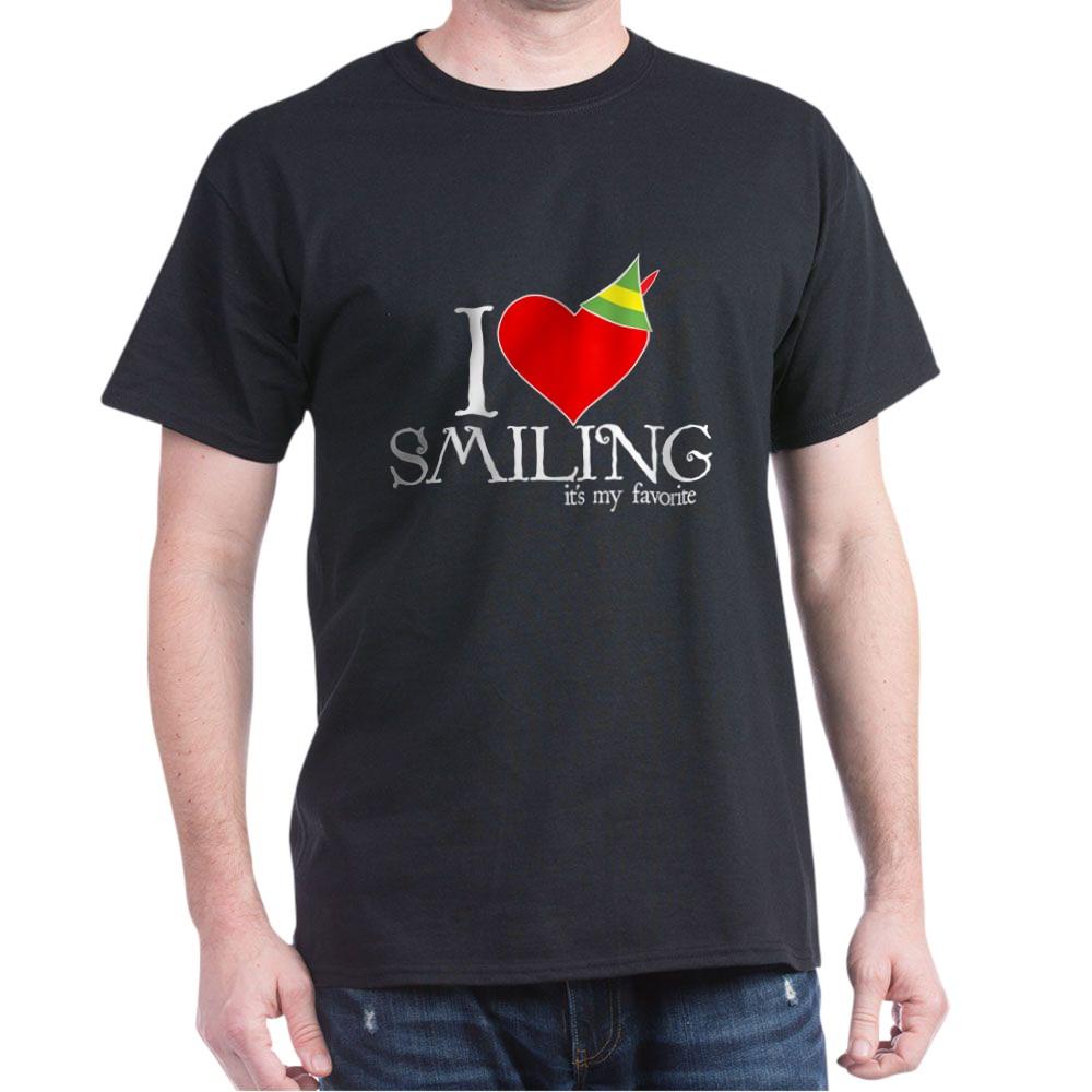 Elf - I Heart Smiling Dark T-Shirt