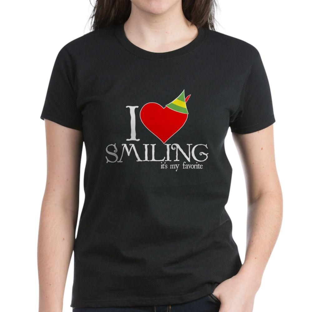 Elf - I Heart Smiling Women's Dark T-Shirt
