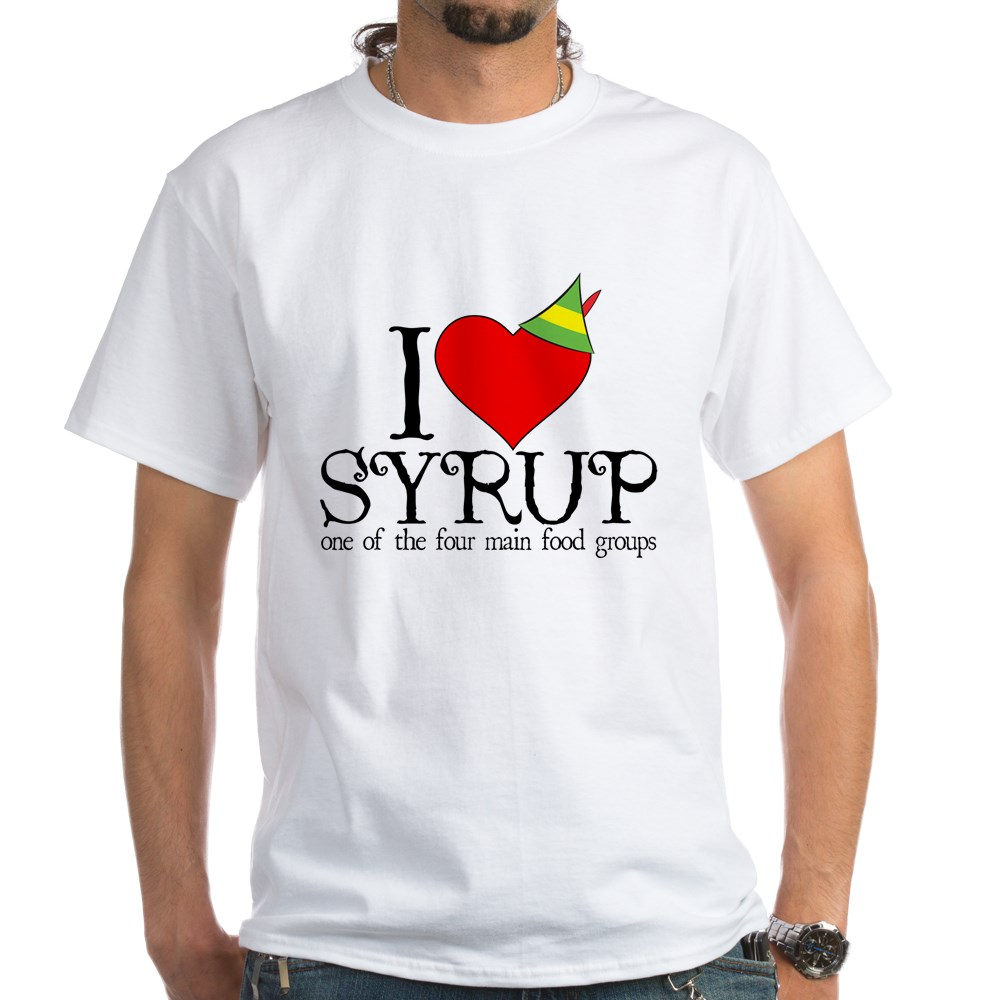 Elf - I Heart Syrup White T-Shirt