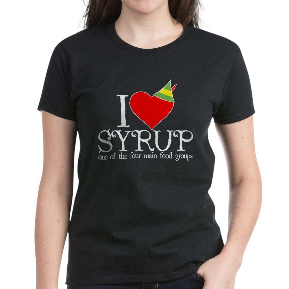 Elf - I Heart Syrup Women's Dark T-Shirt