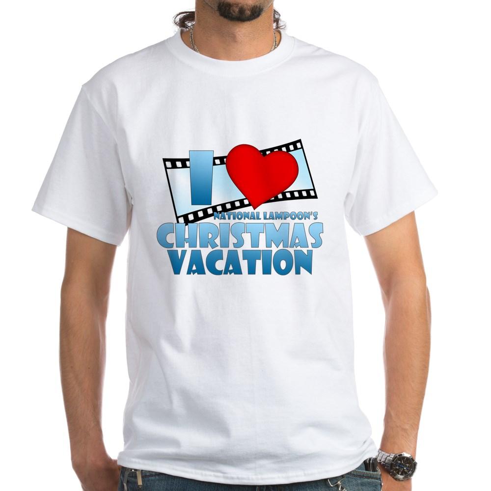 I Heart Christmas Vacation White T-Shirt