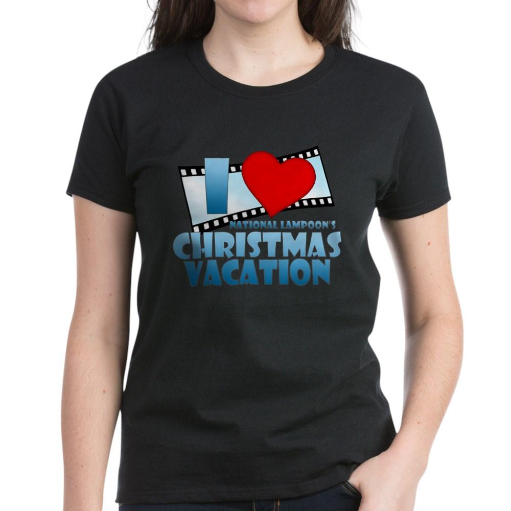 I Heart Christmas Vacation Women's Dark T-Shirt
