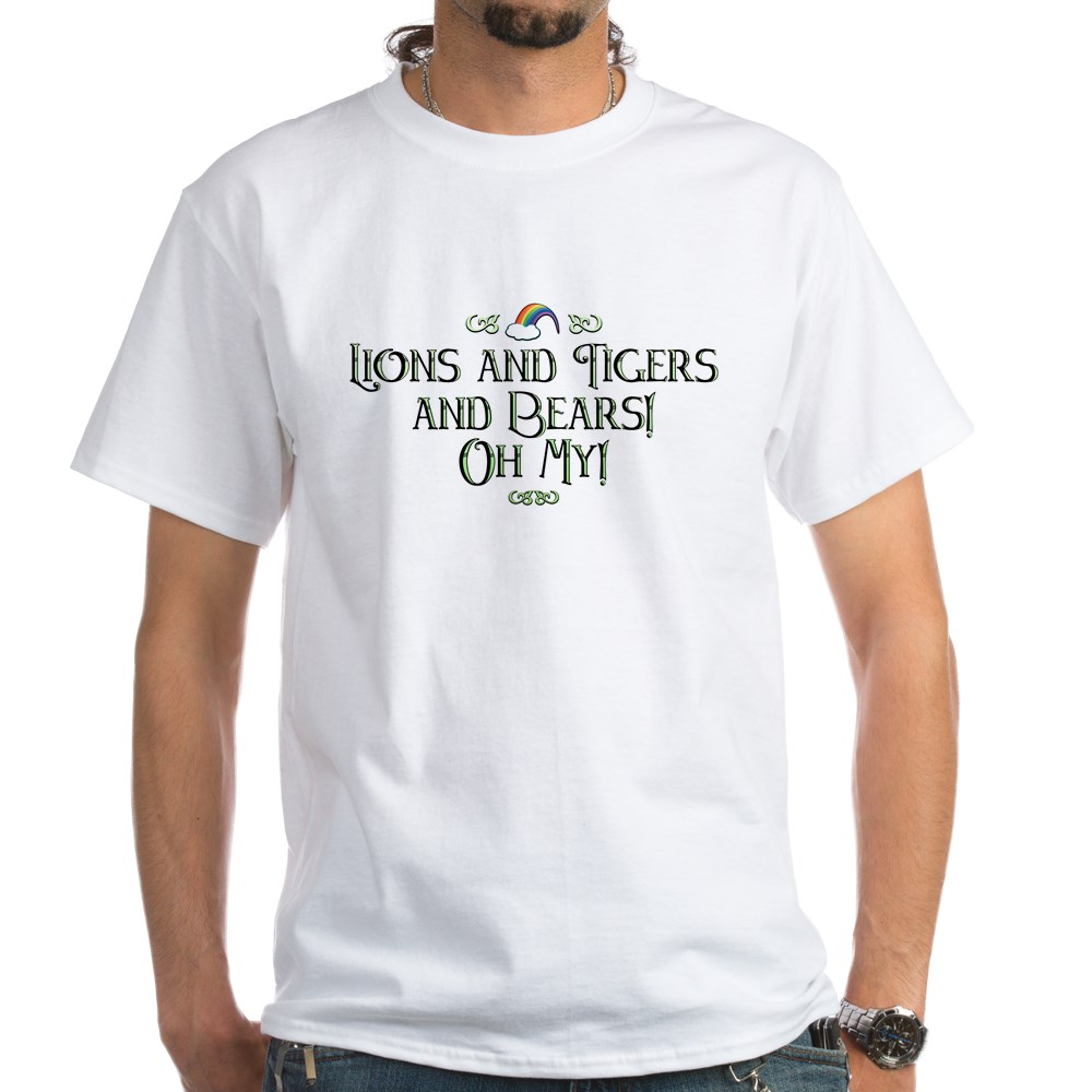Lions and Tigers and Bears! Oh My! White T-Shirt