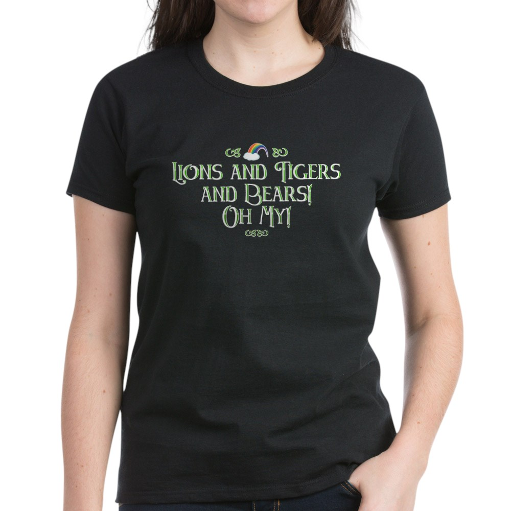 Lions and Tigers and Bears! Oh My! Women's Dark T-Shirt