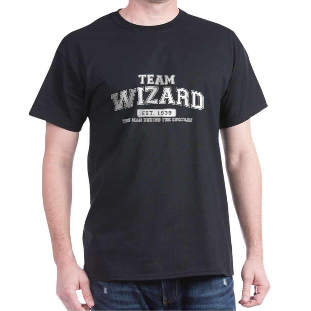 Team Wizard - The Man Behind the Curtain Dark T-Shirt