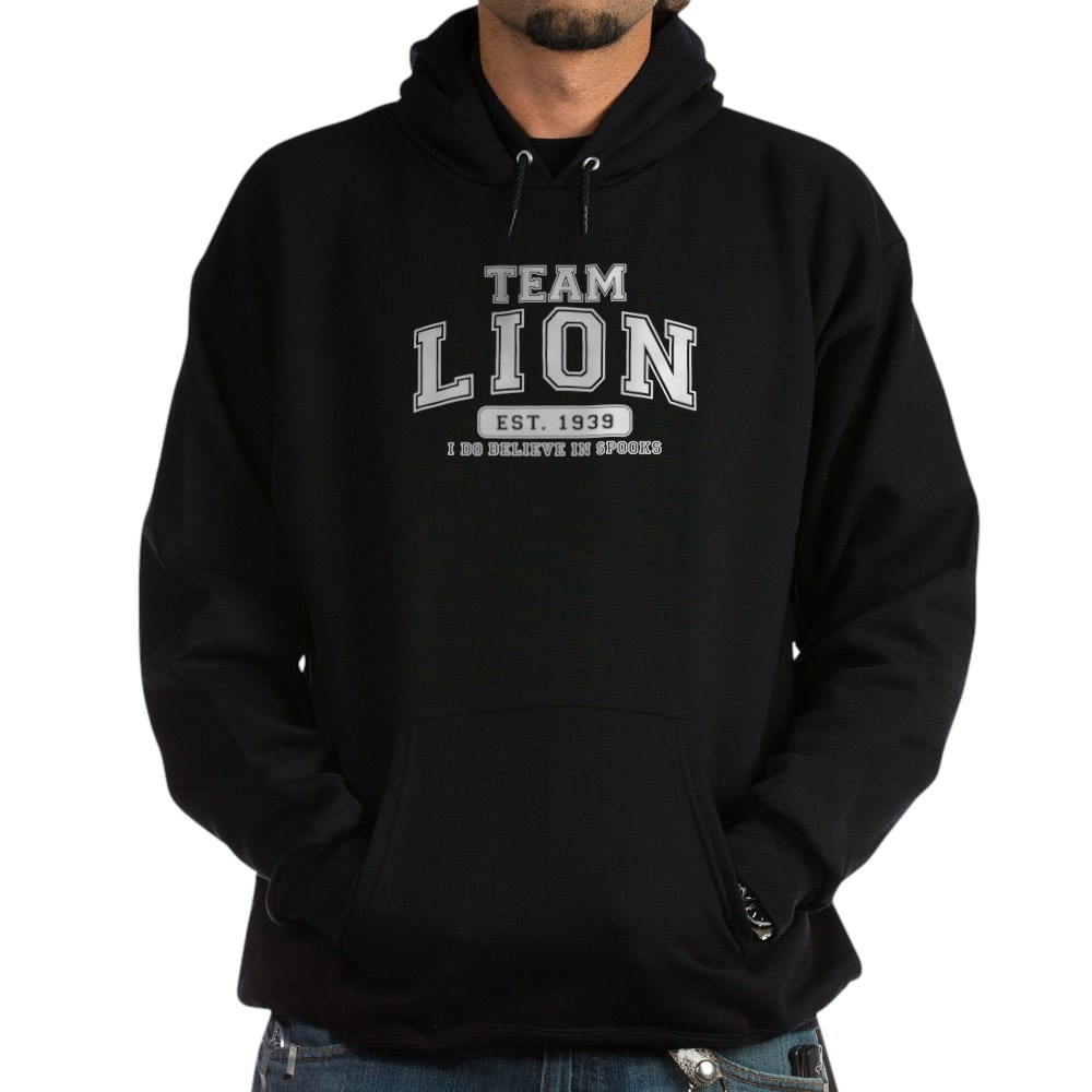 Team Lion - I Do Believe in Spooks Dark Hoodie
