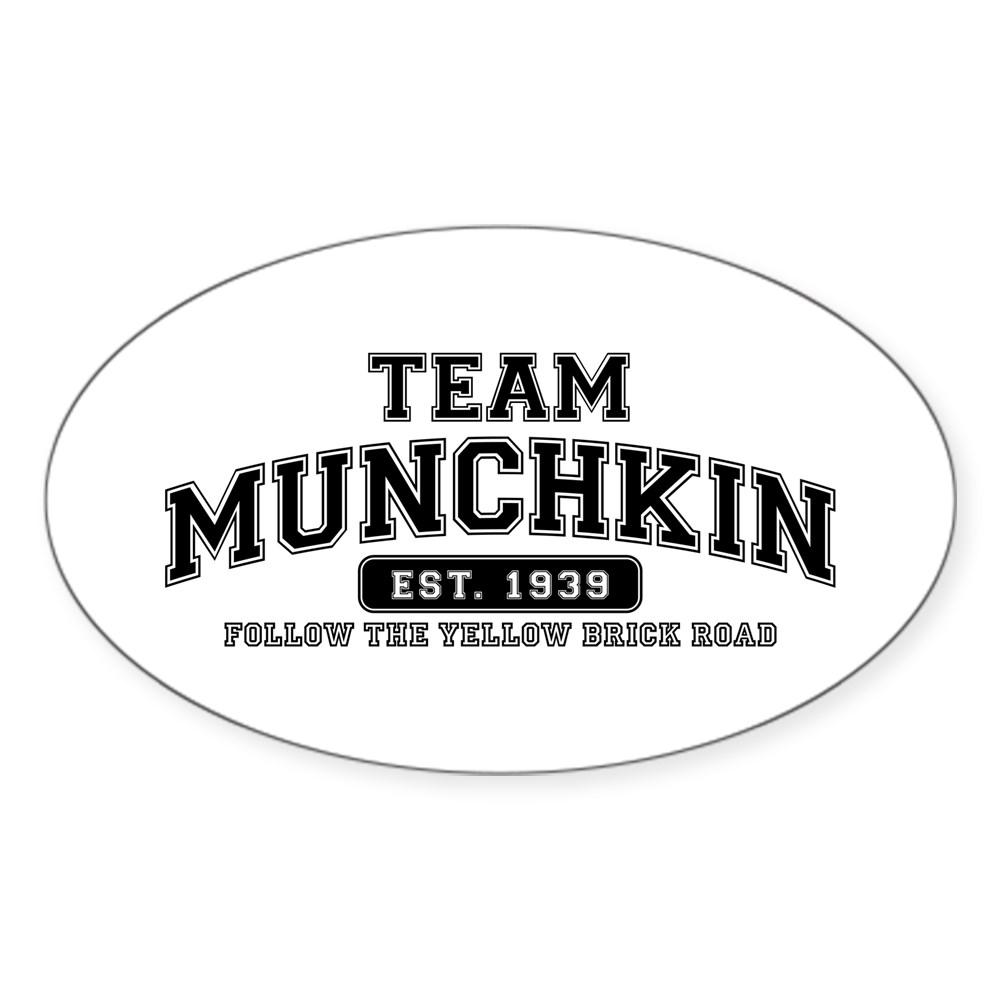 Team Munchkin - Follow the Yellow Brick Road Oval Sticker
