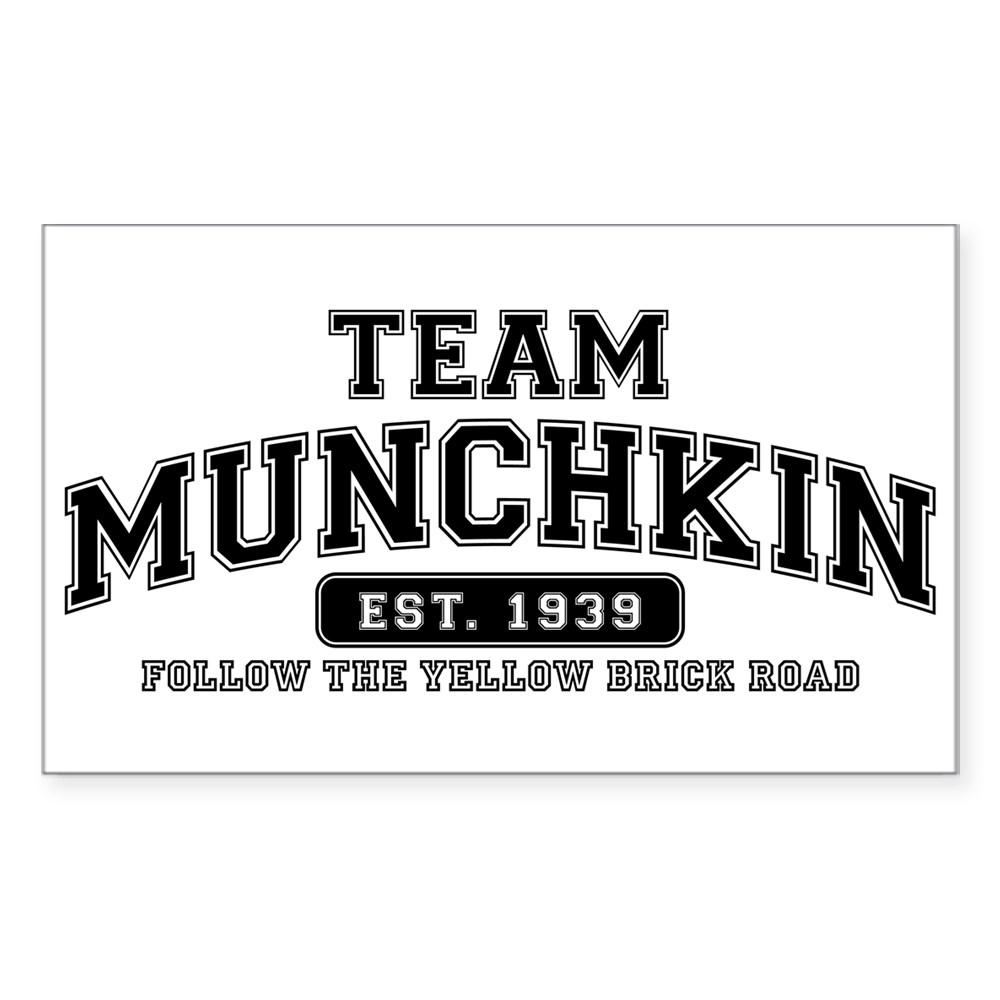 Team Munchkin - Follow the Yellow Brick Road Rectangle Sticker
