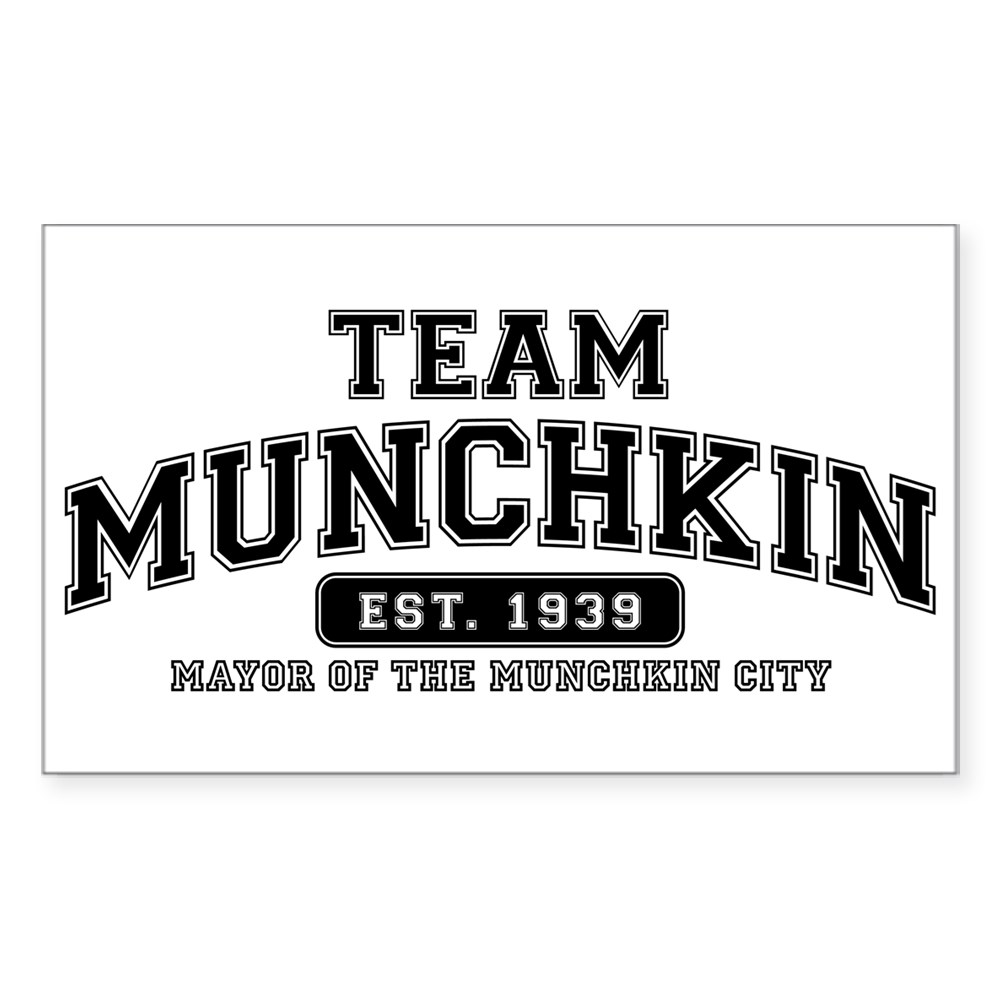 Team Munchkin - Mayor of the Munchkin City Rectangle Sticker