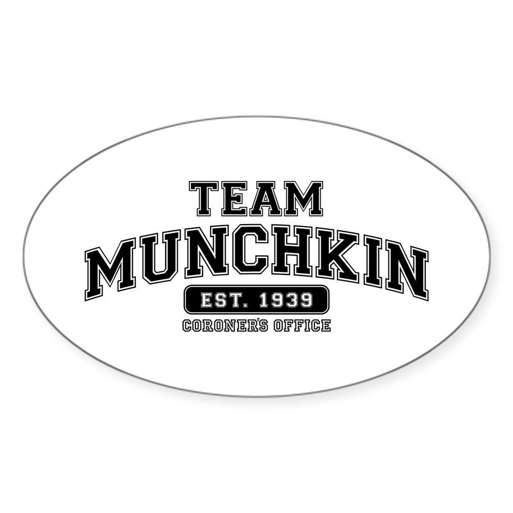 Team Munchkin - Coroner's Office Oval Sticker