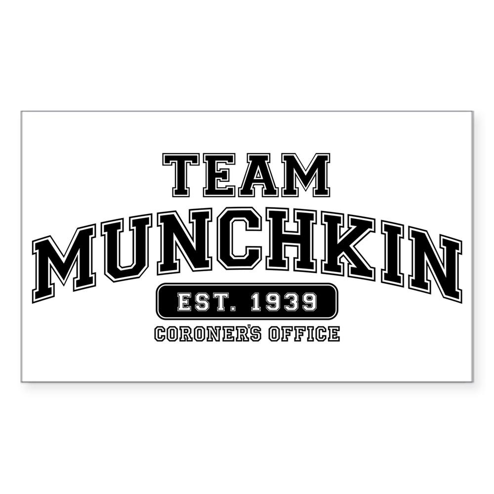 Team Munchkin - Coroner's Office Rectangle Sticker