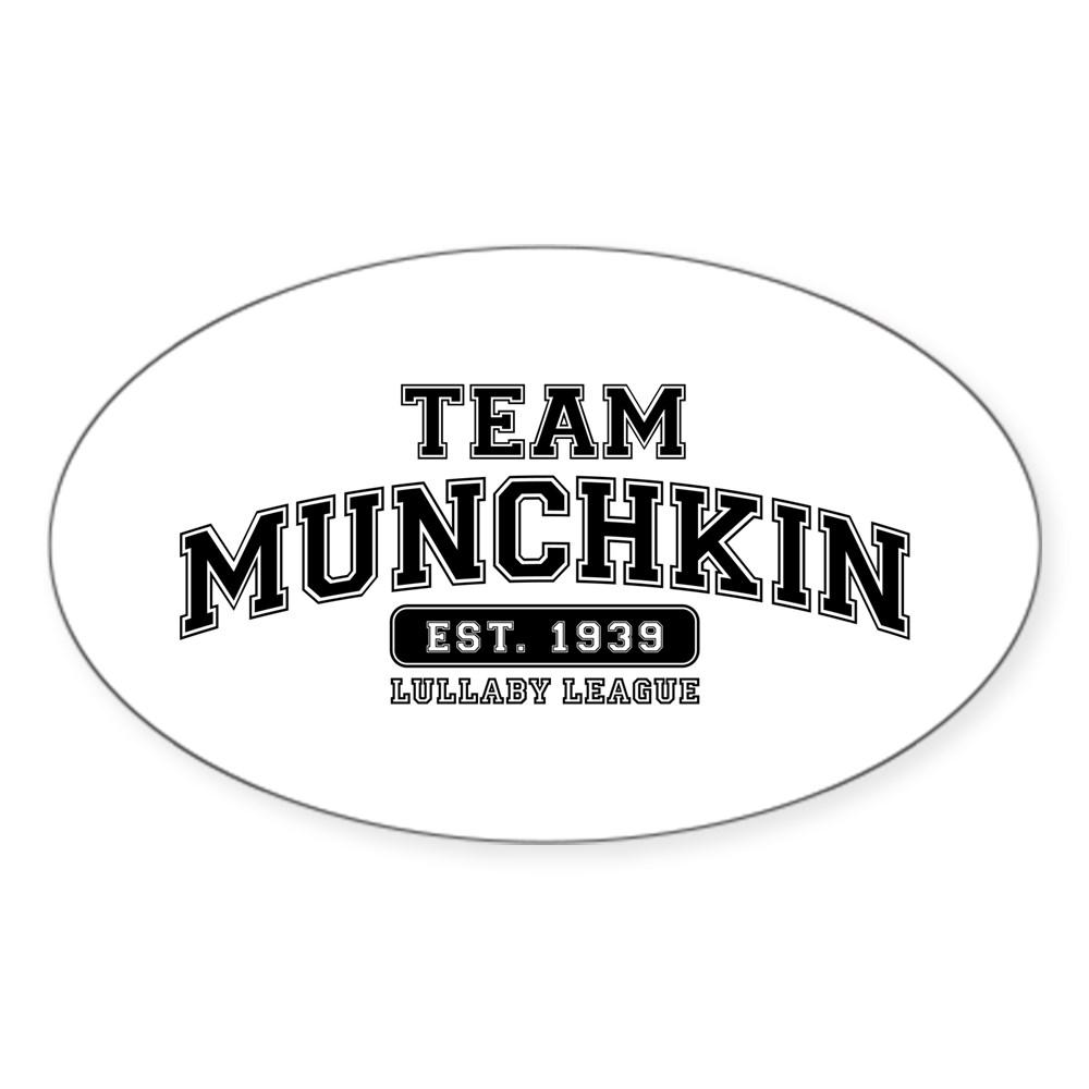 Team Munchkin - Lullaby League Oval Sticker