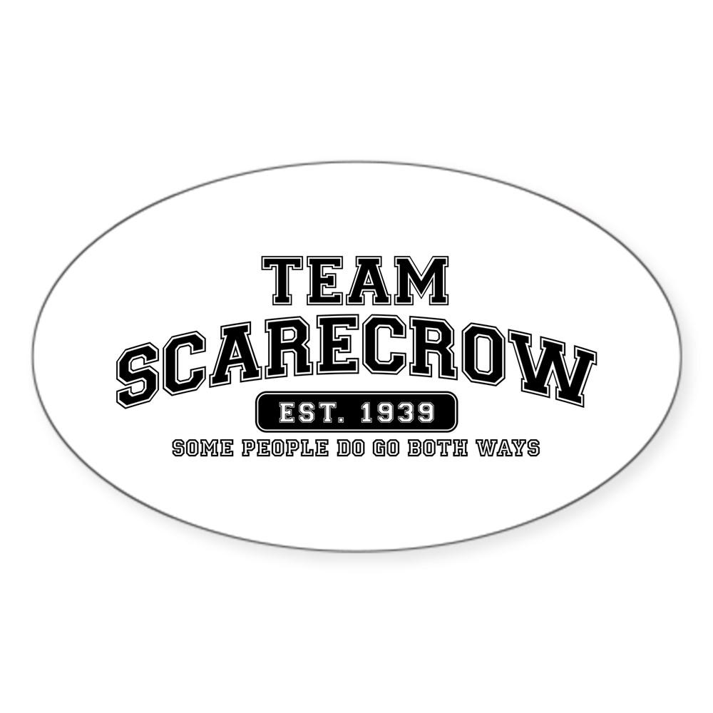Team Scarecrow - Some People Do Go Both Ways Oval Sticker