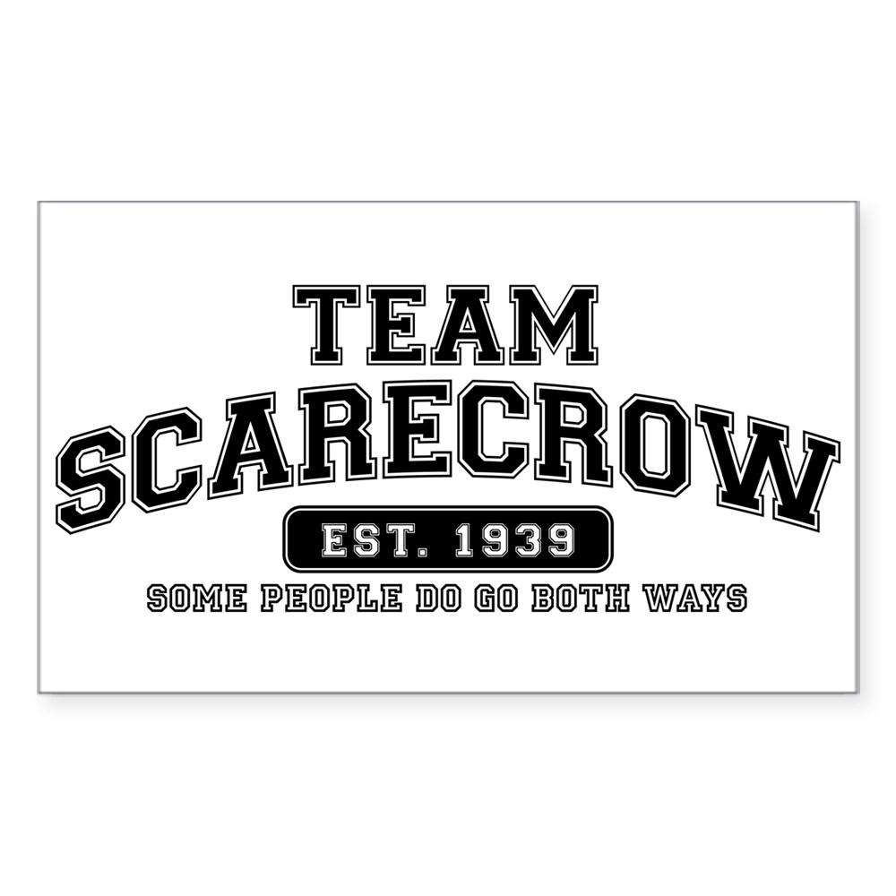Team Scarecrow - Some People Do Go Both Ways Rectangle Sticker