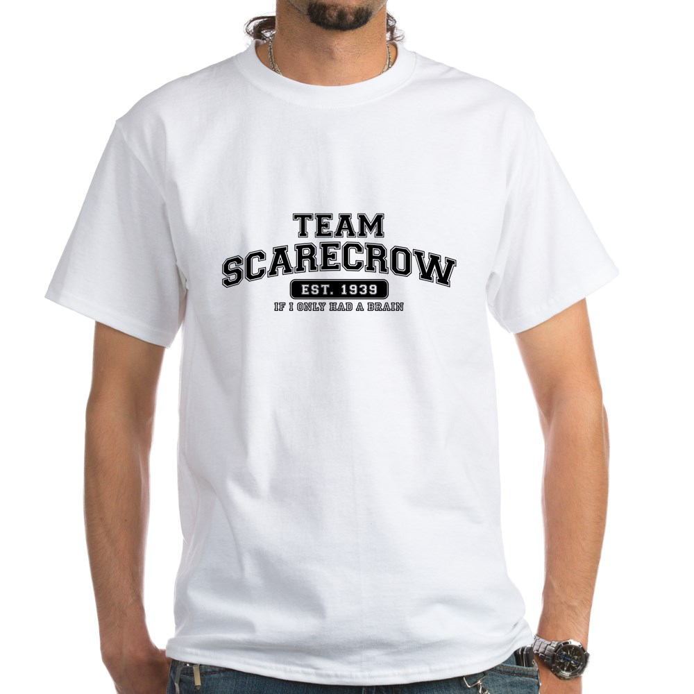 Team Scarecrow - If I Only Had a Brain White T-Shirt