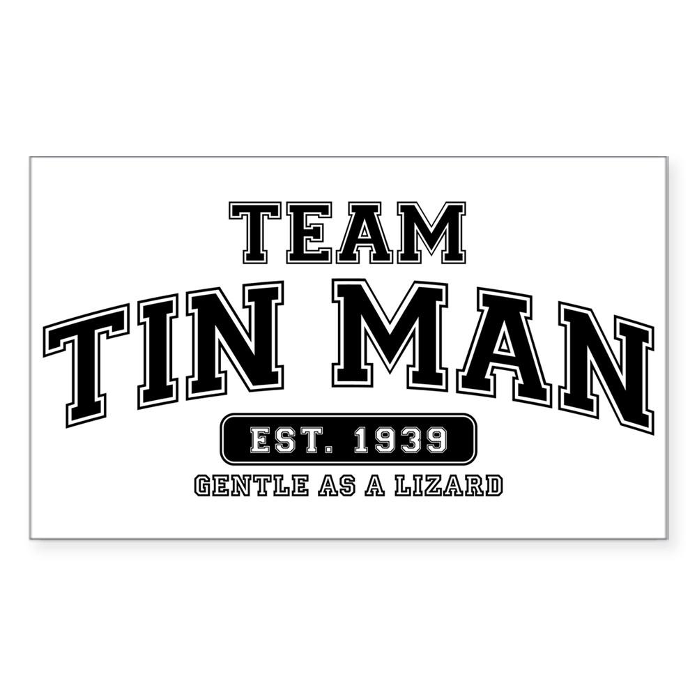 Team Tin Man - Gentle as a Lizard Rectangle Sticker