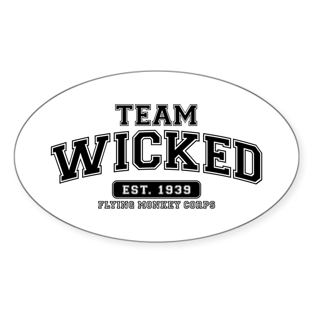 Team Wicked - Flying Monkey Corps Oval Sticker