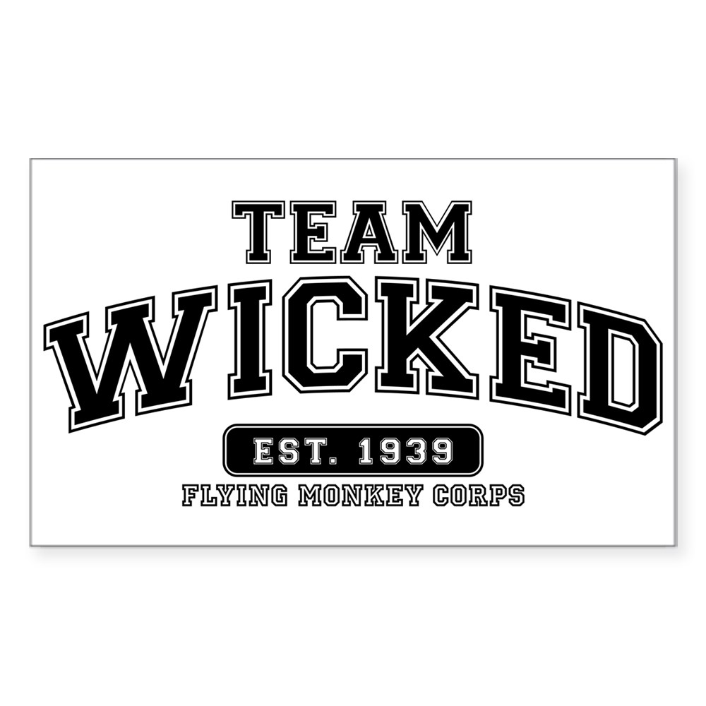 Team Wicked - Flying Monkey Corps Rectangle Sticker