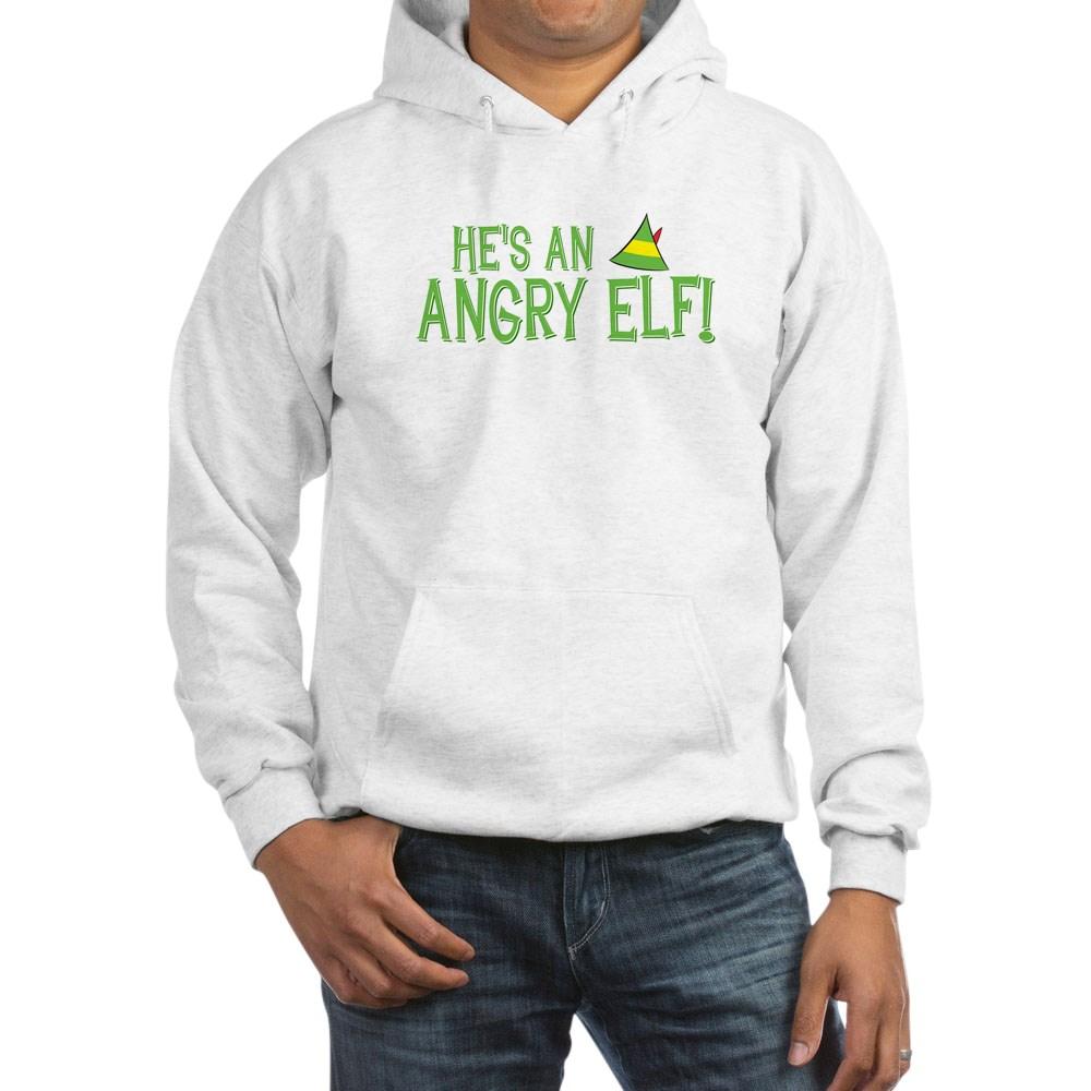 He's an Angry Elf! Hooded Sweatshirt
