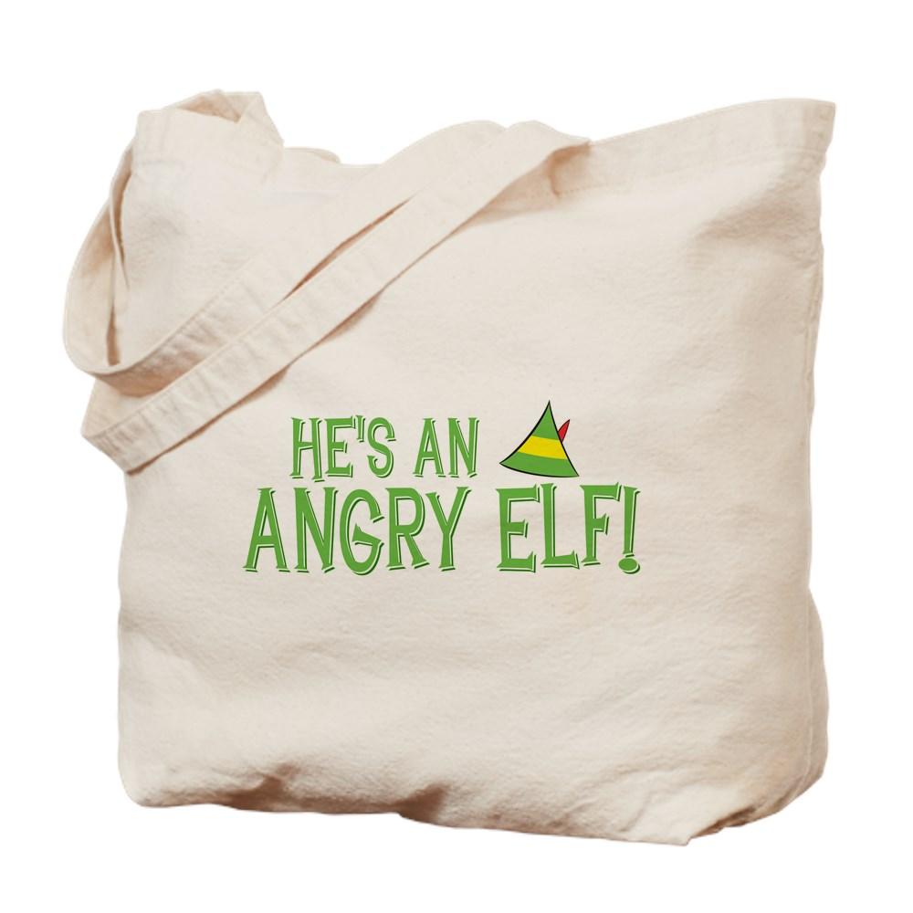 He's an Angry Elf! Tote Bag
