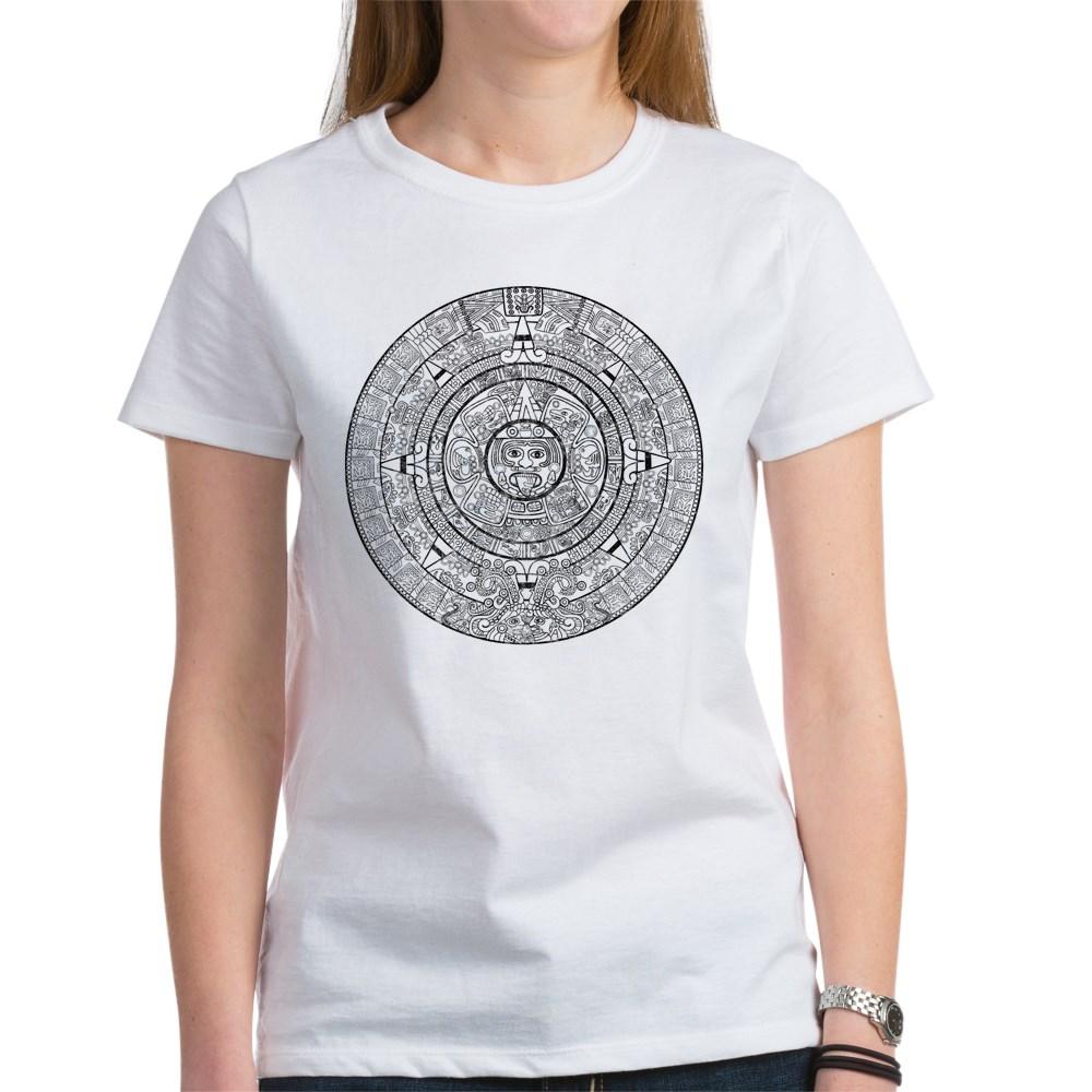 Aztec Sun Stone Calendar Women's T-Shirt