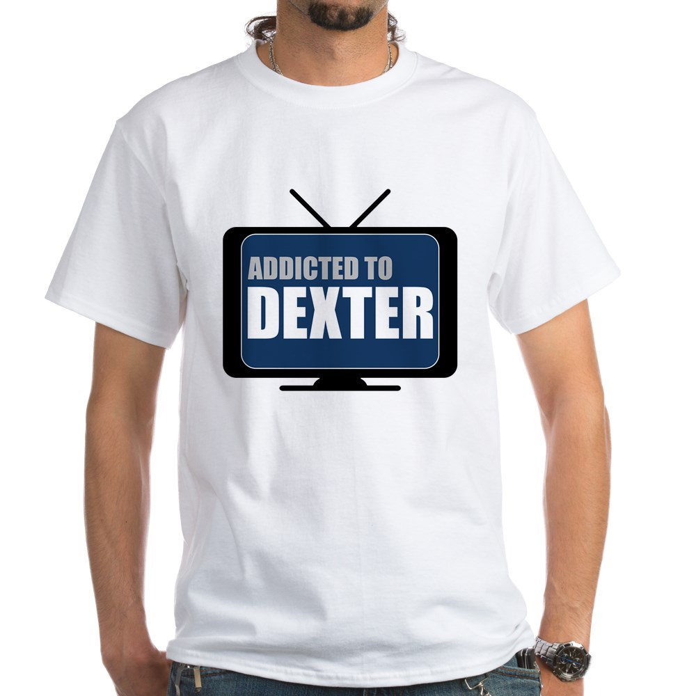 Addicted to Dexter White T-Shirt