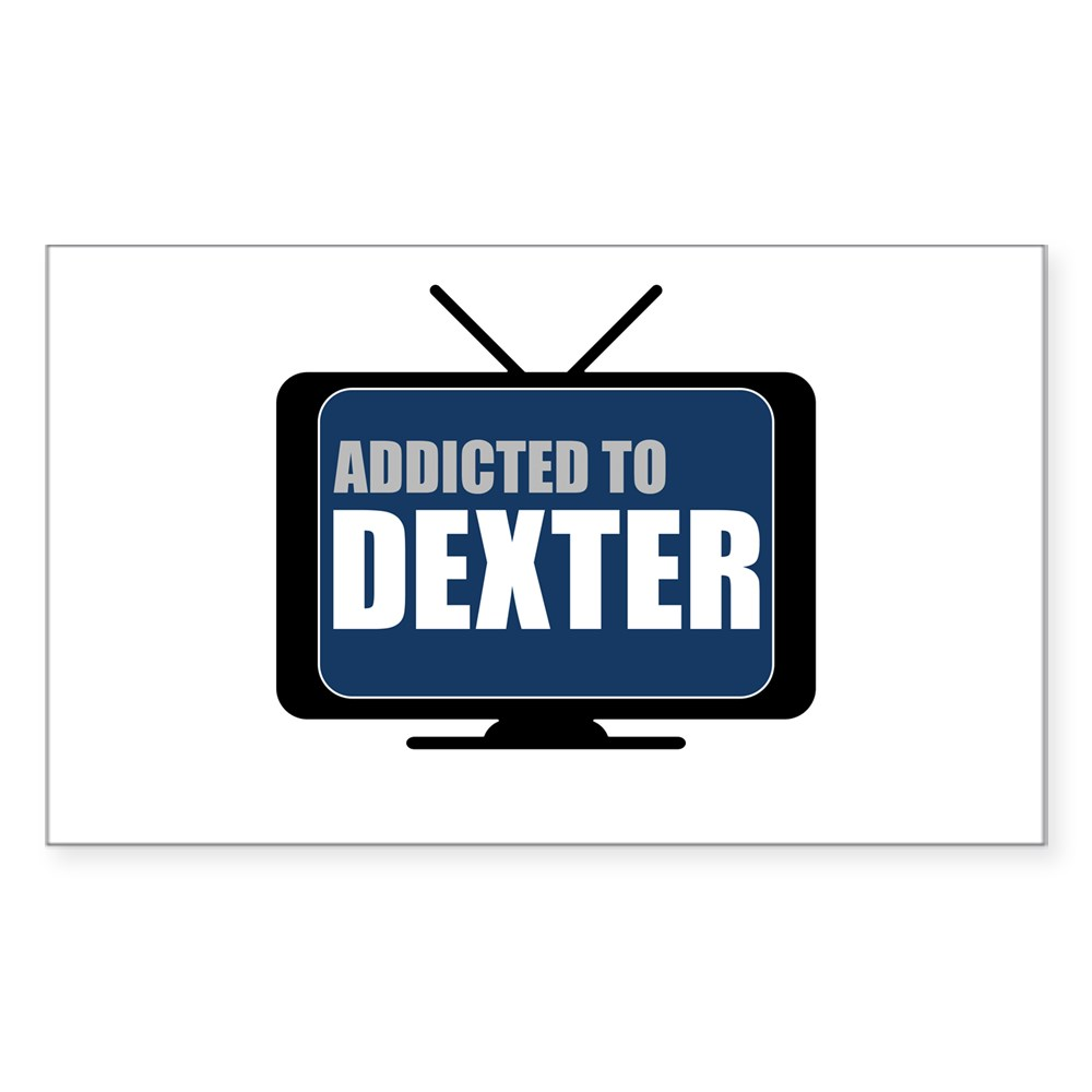Addicted to Dexter Rectangle Sticker