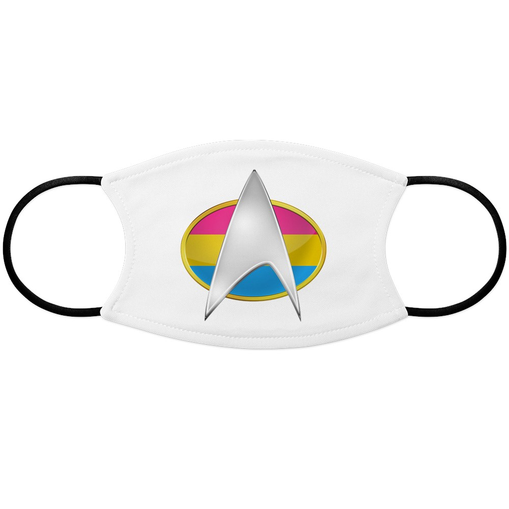 Pansexual Pride Flag TNG Combadge Face Mask